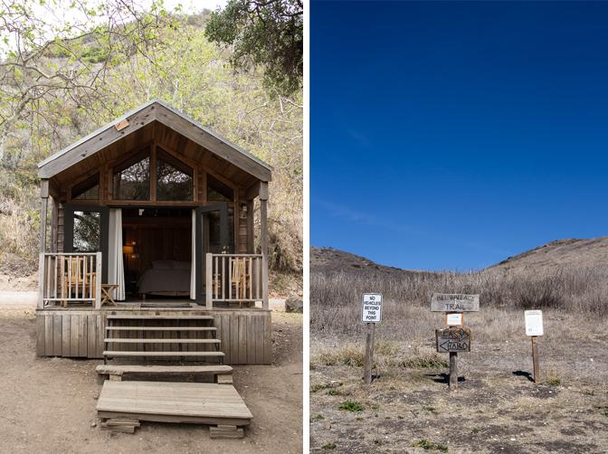Santa Barbara El Capitan Canyon Glamping Cabin and Hiking