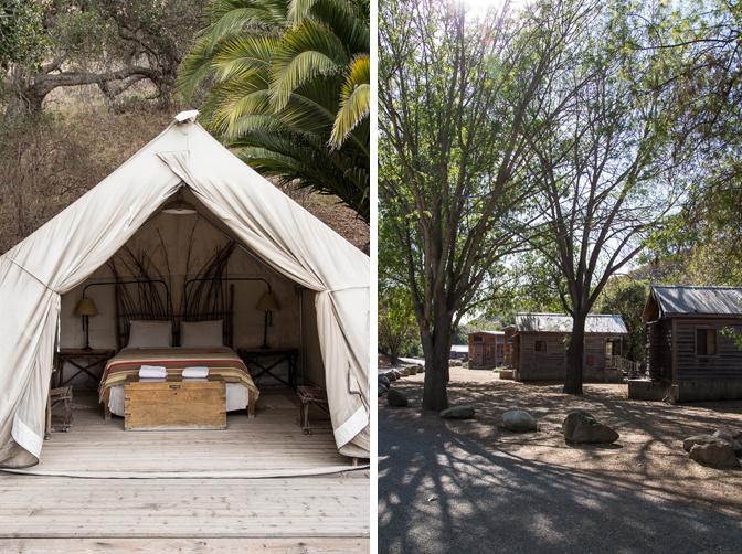 Santa Barbara El Capitan Canyon Glamping Cabins and Tent