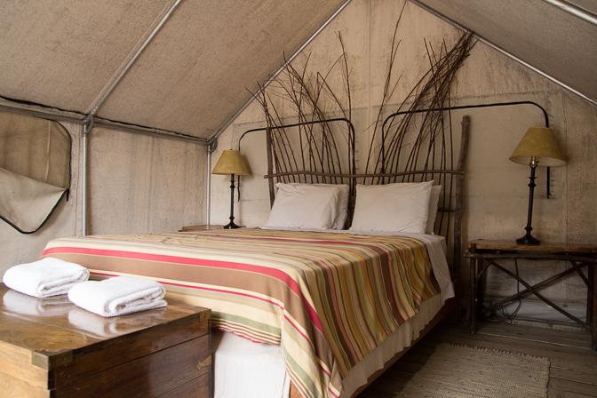 Santa Barbara El Capitan Canyon Glamping Farm Tent Inside