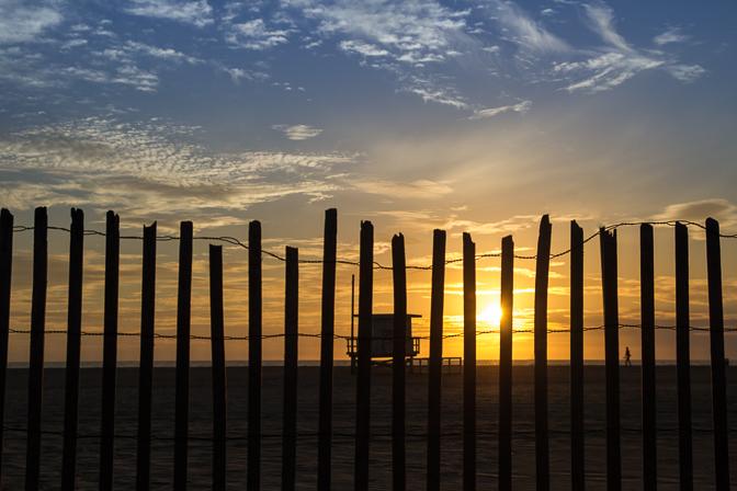 Santa Monica Sunset Fence 3