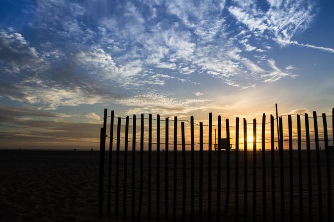 Santa Monica Sunset Fence 4
